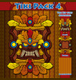 tiki pack 4 vector image