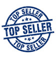 top seller blue round grunge stamp vector image vector image