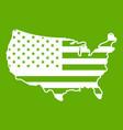 usa map icon green vector image vector image