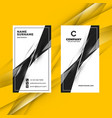 vertical double-sided black and white business vector image