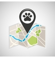 veterinary map pin pointer design vector image