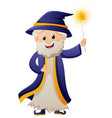 wizard in blue robe vector image vector image