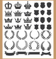 wreaths and crowns vector image vector image