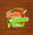 zesty juices symbol vector image vector image