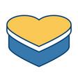 heart shape box vector image