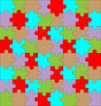 Puzzle pattern color vector image