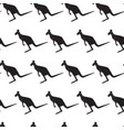 seamless pattern with black silhouette kangaroo vector image