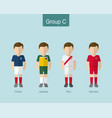 2018 soccer or football team uniform group c vector image