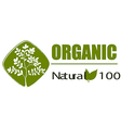 A natural organic label vector image vector image