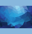 abstract blue light triangle polygon background vector image vector image