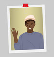 afro american man is waving his hand male vector image vector image
