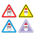 Attention Santa Claus Warning sign Santa Color vector image vector image