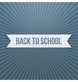 Back to School greeting Text on paper Tag vector image