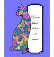 Background with colorful cat vector image vector image