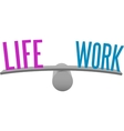 Balance life and work decision choice vector image vector image