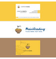 beautiful bowl logo and business card vertical vector image