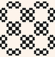 black and white geometric checkered ethnic pattern vector image vector image