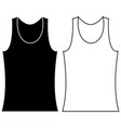 black and white tank top underwear tank top vector image