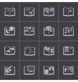 black schoolbooks icon set vector image vector image