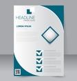 Brochure template Business flyer vector image vector image