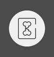 broken bone icon sign symbol vector image vector image