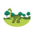 brontosaurus dinosaur cartoon vector image vector image