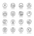 business and data management line icons vector image vector image