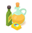 butter icon cartoon isometric 3d style vector image vector image