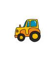 cartoon tractor icon vector image