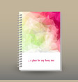 Cover of diary spring pink magenta green polygonal