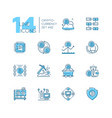 cryptocurrency - set line design style icons vector image