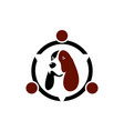 dog logo concept icon vector image vector image