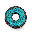 doughnut donut cartoon pop art vector image vector image