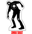 evil target zombies vector image