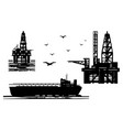 extraction petroleum products in sea vector image vector image