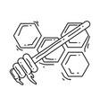 farming honey icon hand drawn icon set outline vector image