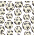 football seamless pattern inflatable ball vector image