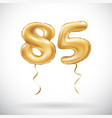 golden number 85 eighty five metallic balloon vector image vector image