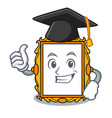 graduation picture frame character cartoon vector image vector image