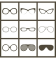 hand drawn glasses frame set Retro vintage vector image vector image