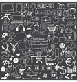 hand drawn sketch icons for businessinternet vector image
