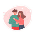 happy romantic couple young man and woman in love vector image vector image