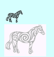 Horse ornate vector image vector image