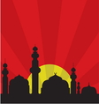 Islamic Mosque Background vector image vector image