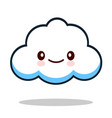 kawaii cartoon white emoticon cute cloud vector image vector image