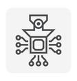 laptop icon black vector image