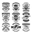 mechanic and repair service set emblems vector image