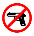 no gun sign symbol cevtor prohibition vector image vector image
