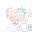 Ombre print heart vector image vector image
