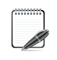 pen and notepad icon vector image